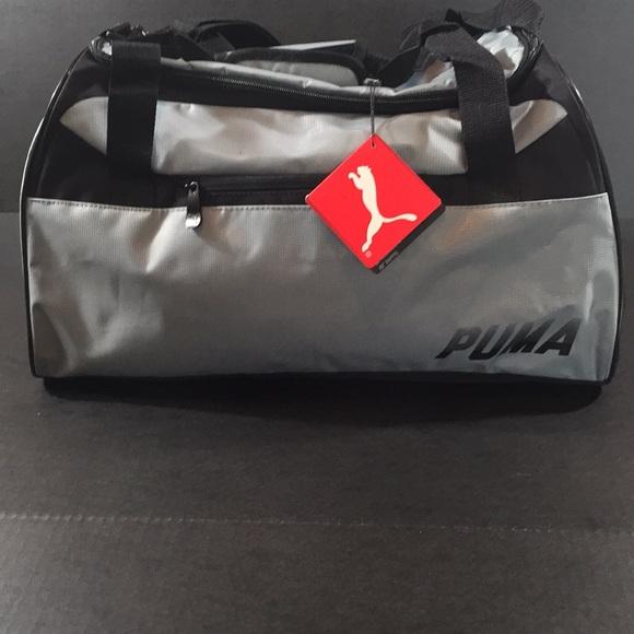 c565ec6ab48 Puma Bags   Direct Duffel Black Silver   Poshmark